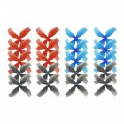 10 Pairs KINGKONG/LDARC 1545 40mm 4-blade Propeller 1.0mm Hub for TINY 7 7X Snapper7 Mobula7 TRASHCAN RC Drone as shown