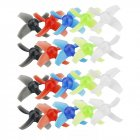 10 Pairs KINGKONG/LDARC 40mm 4-blade Transparent Propeller 1.5mm Hub for Beta75X RC Drone as shown