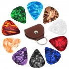 10 Pcs Guitar Pick with Holder Set Guitar Accessories Random color