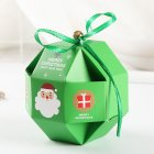 10 Pcs/Set Merry Christmas Candy Box with Bells Paper Container green