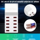 10 Ports USB Charger Desktop Mobile Phone Charger 100W Fast Charge Adapter Universal Socket UK Plug