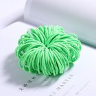100 Pcs Hair Rope Cute Elastic Hair Ring Headband for Girls green