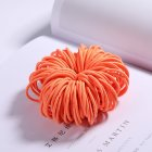 100 Pcs Hair Rope Cute Elastic Hair Ring Headband for Girls Orange