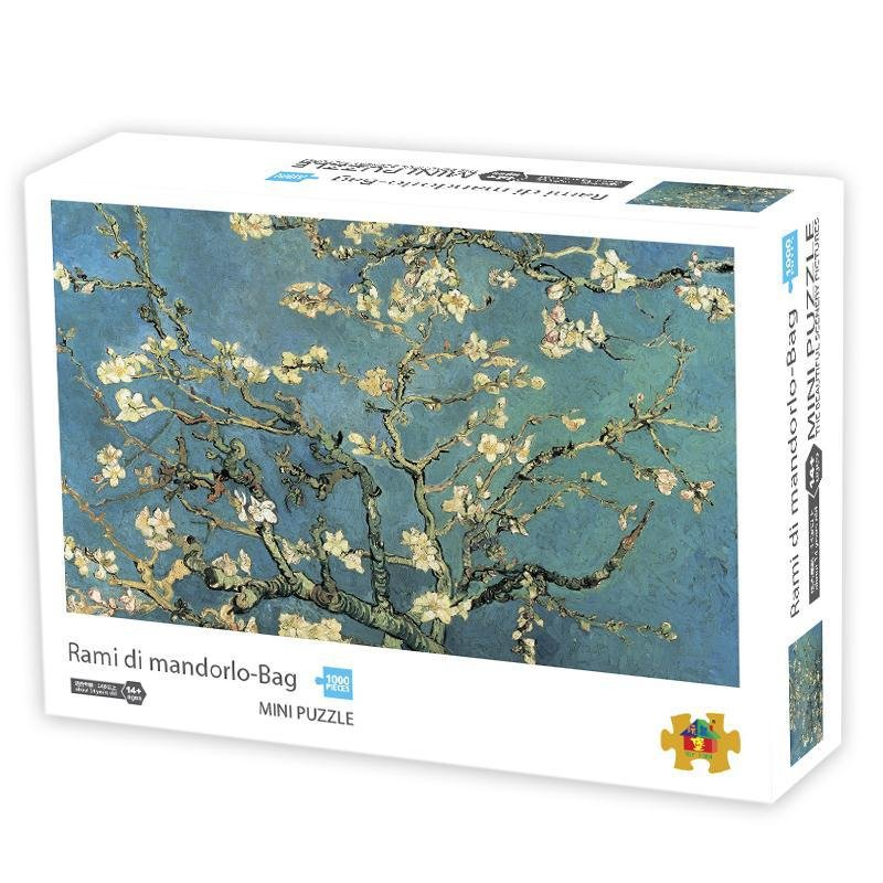 1000Pcs/box Paper Jigsaw Puzzle Kid Educational Intellectual Adult Decompressing Fun Family Game Apricot blossom