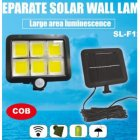 100LEDs Solar Charging Wall Light with COB Lamp Beads Human Body Induction for Outdoor Garage 120COB
