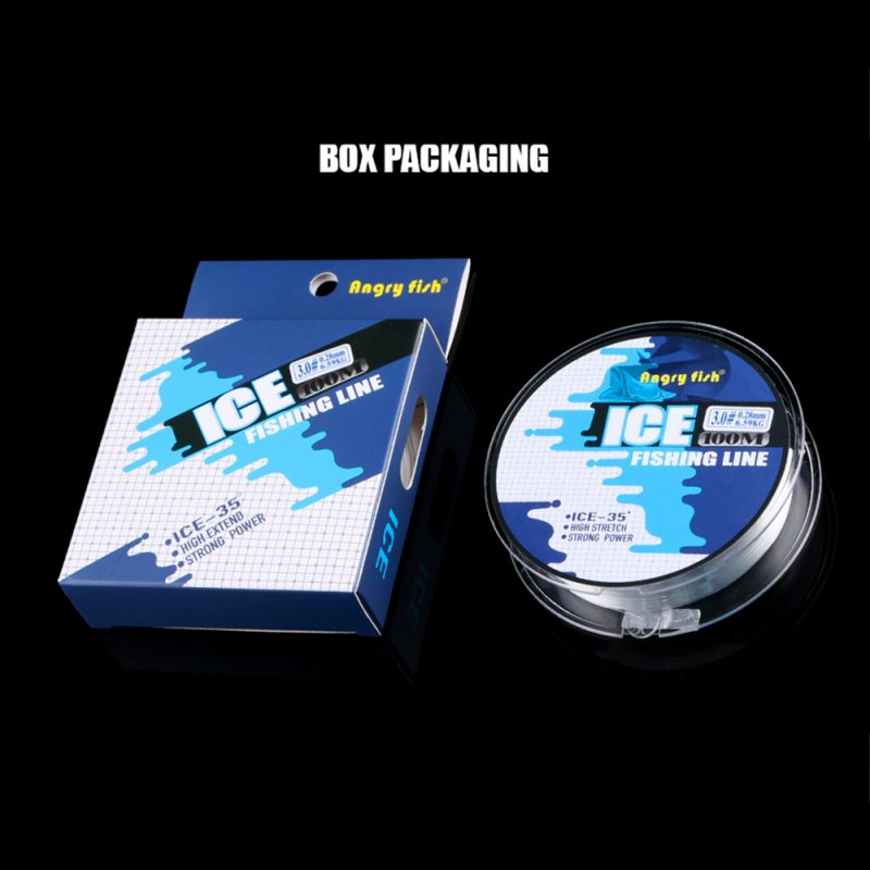 100M Ice Fishing Line Monofilament Super Strong Nylon Line for Winter Ice Lake  Transparent_0.6