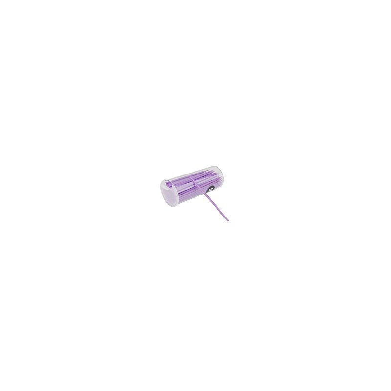 100Pcs Disposable Eyelash Extension Micro Brush Applicators Mascara Purple