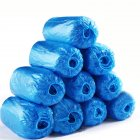 100Pcs Disposable Shoe Covers Elastic Waterproof Non-slip Polyethylene Shoe Covers, One Size Fits More, Blue Blue