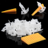 100Pcs Tile Leveling System Construction Spacer Flooring Composite Yellow White  100 bases