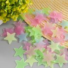 100Pcs/set 3CM Noctilucence Star Wall Sticker Art Decal for Home Ceiling Decoration 3cm100/pcs color mixing