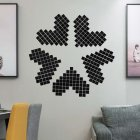 100Pcs/set Acrylic Mirror Wall Sticker Self-adhesive 3D Wallpaper DIY Home Decoration 2*2cm black