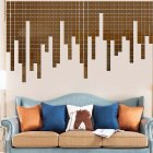 100Pcs/set Acrylic Mirror Wall Sticker Self-adhesive 3D Wallpaper DIY Home Decoration 2*2cm brown