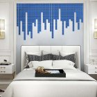 100Pcs set Acrylic Mirror Wall Sticker Self adhesive 3D Wallpaper DIY Home Decoration 2 2cm blue