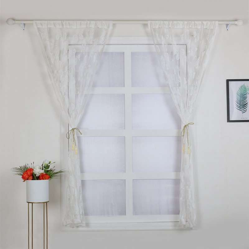 100X200cm Butterflies Curtain  for Window Door Home Living Room Decoration white_100x200cm