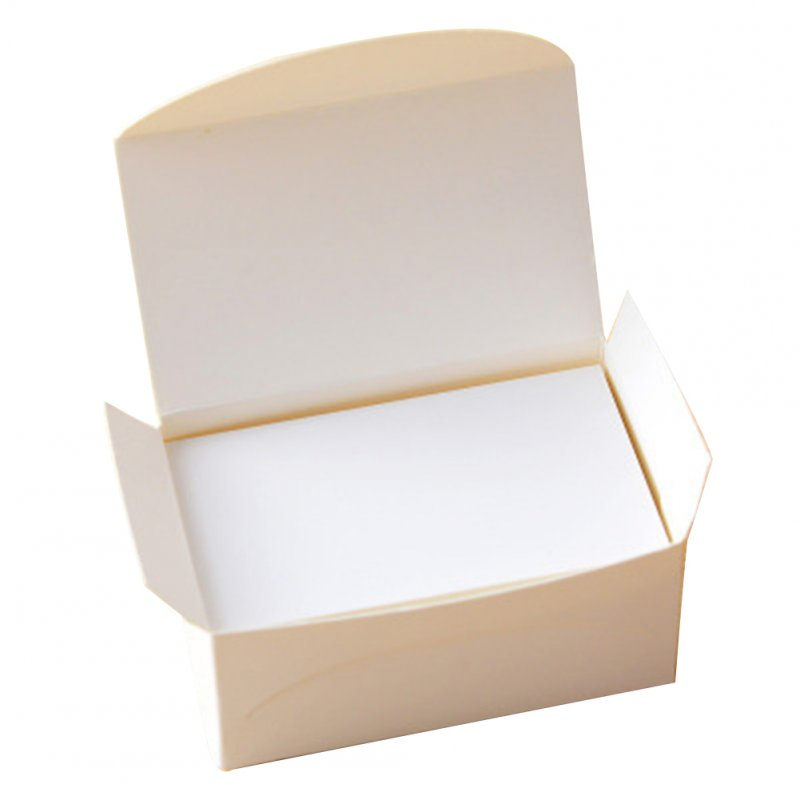 100pcs Double-sided Blank Kraft Paper Business Cards Word Card Message Card DIY Gift Card white