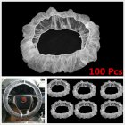 100pcs/Set Universal Disposable Plastic Steering Wheel Cover