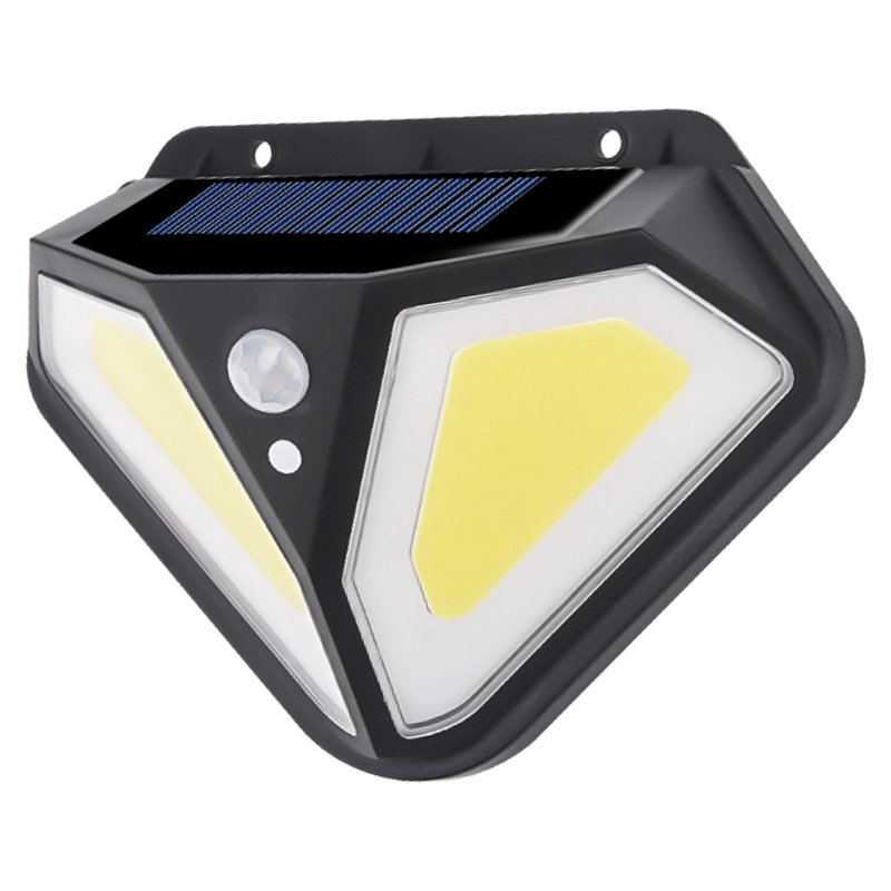 102 LED Solar Wall Lamp Human Body Induction Lamp On Both Sides Outdoor Courtyard Garden Villa Lamp 50COB