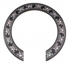 105mm Diameter Flower Pattern Guitar Circle Sound Hole Sticker Guitar Sound Hole Circle For Classical Guitar Decal Accessories Silver