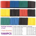 1060Pcs Heat Shrink Tubing Insulation Shrinkable Tube 2:1 Wire Cable Sleeve Kit 1060PCS