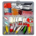 106pcs/set Multiple Lure Fish Bait Fishing Gear Accessories Kit 106PCS