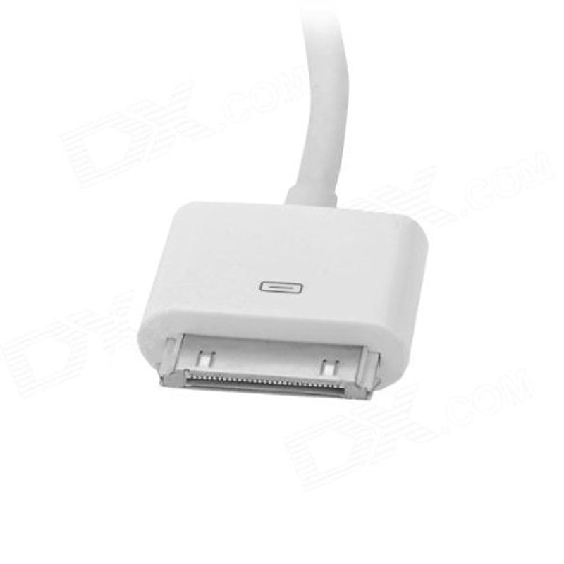 1080P 30 Pin Dock Male to HDMI Male Adapter Cable For iPhone Ipad Itouch- White