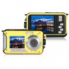 1080P Full HD Waterproof Digital Camera Underwater Camera 24 MP Video Recorder Selfie Dual Screen DV Recording Camera