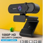 1080P HD Webcam with Mic Fast Autofocus Web Camera with Protective Cover HD 1080P