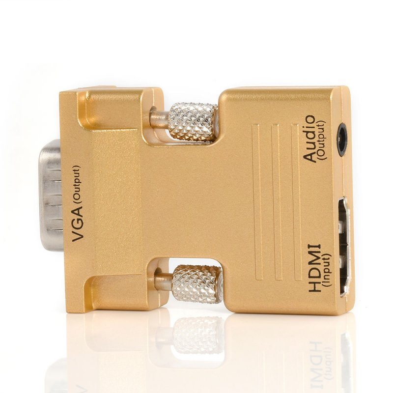HDMI Female to VGA Male with 3.5mm Audio