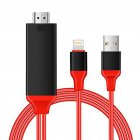 1080P 8-pin to HDMI Cable 8-pin Digital AV to HDMI Adapter for iPhone,iPad,iPod red