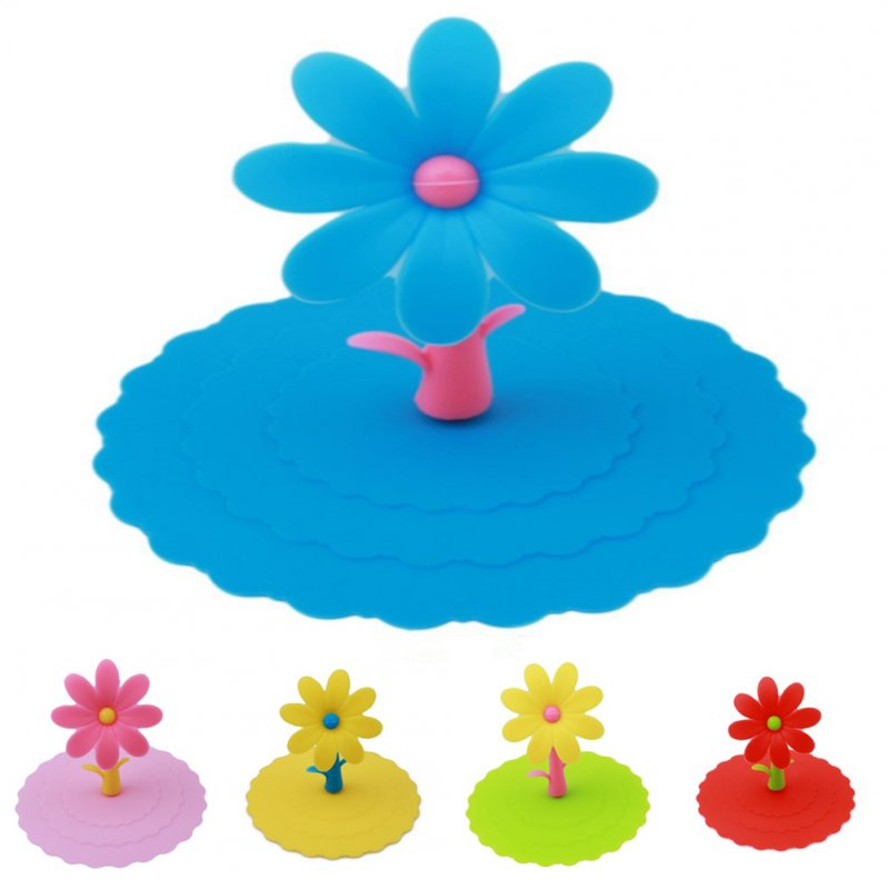 10CM Universal Cartoon Sunflower Shaped Silicone Cup Cover