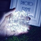 10M/20M 100LEDs/200LEDs Romanstic Solar Powered Copper Wire String Light White light_20 meters 200 LED_(ME0004101)