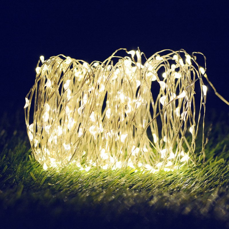 10M/20M 100LEDs/200LEDs Outdoor Waterproof Copper Wire Solar String Lights warm light_10 meters 100 LED_(ME0003302)