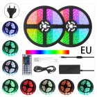 10M 300LEDs Strip Light Waterproof Flexible Stripes Lamp with 44Keys Remote Control Kit 12V5A RGB_European plug