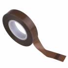 10M Brown Color PTFE Coating Fiberglass Cloth Silicone Tape Wide 10mm/19mm/25mm brown_0.13mmx10mmx10M