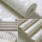 10M Fashion Modern Non-woven Wallpaper 3D Pattern Dust-Proof Moisture-Proof Wall Paper Hotel Living Room Bedroom Decor  white