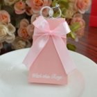 10PCs Pink Artistic Wedding Diamond ring Candy Box with Ribbons Birthday Shower Party Candy Boxes