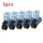 10Pcs 12V 24V DC 110V 220V AC Coil Power Relay LY2NJ DPDT 8 Pin HH62P JQX-13F with Socket Base AC110V