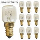 10Pcs 15W/25W E14 220V 300 Degree High Temperature Resistant Microwave/Oven Bulb Gold