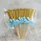 10Pcs First Birthday Decorations Number 1 Cupcake Toppers Boy Girl 1st Year Party Decor