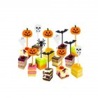 10Pcs/Set Halloween Series Cake Topper for Cake Decoration Party Supplies 10 pieces (2 pieces each)_Printed random