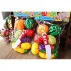 10Pcs/Set Simulate Kitchen Cut Food Pretend Play Educational Toys for Kindergarten Kids Girls cut fruit