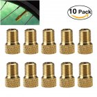 10Pcs/set French valve to American valve Bike Bicycle Pump Tube Adapter Converter 10pcs