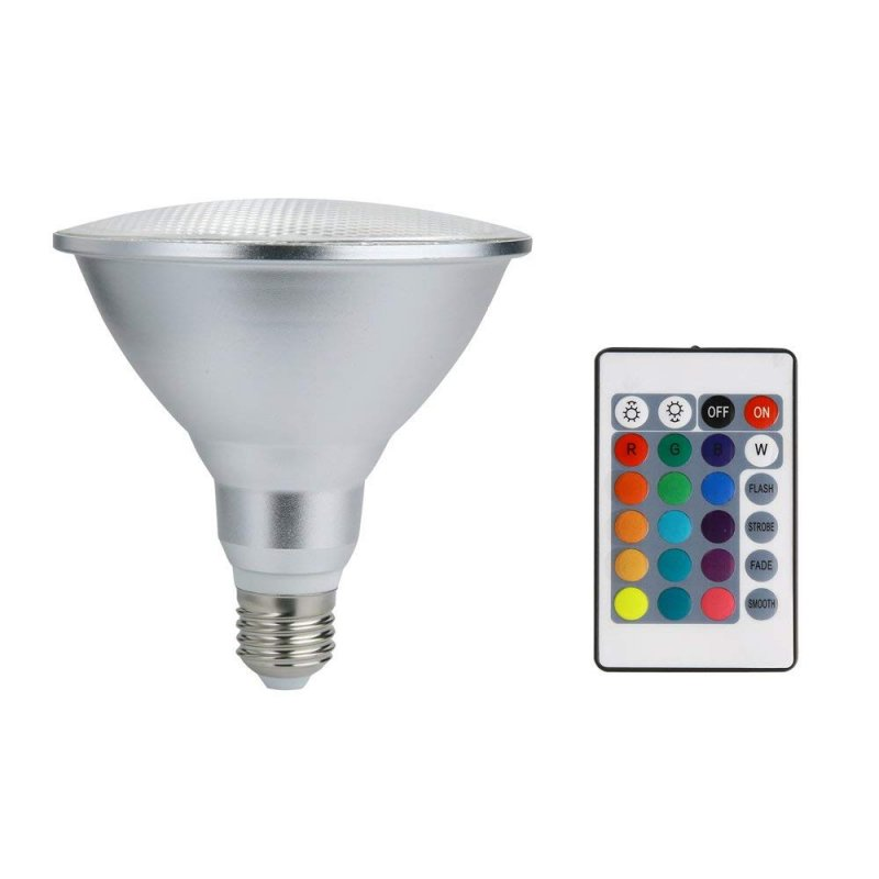 10W 20W Par30 Par38 LED RGB Spotlight Bulb Outdoors Water-Resistant Color Changing Magic Bulb