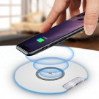 10W Fast Wireless Charger Micro USB General Qi Ultra slim Charging Pad   white