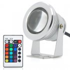 10W Outdoor LED Flood Light features RGB Color Changing  a remote control and an IP66 Waterproof Rating