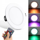 10W RGB Ceiling Lamp 85-265V 7Colors Change Romote Control Downlight 140x140x35mm