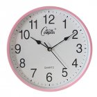10inch Wall Clock Round Mute Quartz Clock Fashion Living Room Home Office Decoration Pink