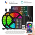 10m 5050 RGB LED Stripe Smart WiFi APP Remote Control String Light 300 LEDs Work with Alexa Google Asistant US plug
