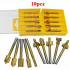 10pcs 1/8in HSS Coated Woodworking Router Bits Wood Cutter Milling for Dremel 10 pieces / set