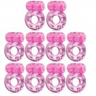 10pcs Butterfly Vibrating Cock Ring Stretchy Penis Ring Clitorial Stimulation for Women Adult Sex Toys  10pcs